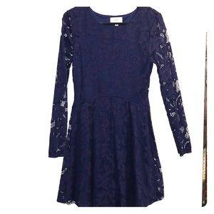 Women's Navy Blue lace dress